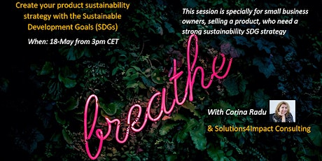 Create your best product sustainability strategy with the SDGs tickets