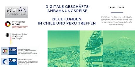 Virtuelles Matchmaking:  Neue Kunden in Chile und Peru treffen Tickets