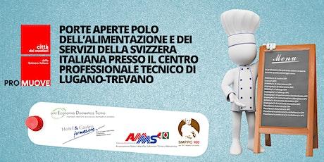 PORTE APERTE POLO DELL'ALIMENTAZIONE E DEI SERVIZI DELLA SVIZZERA ITALIANA biglietti