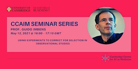 CCAIM Seminar Series - Professor Guido Imbens tickets