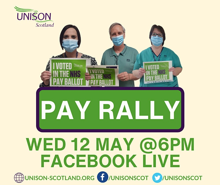 UNISON Scotland - NHS Pay Demo / Ballot Results - Facebook Live Stream image