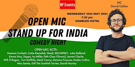 NY Events - Open Mic Stand Up for India Comedy Night at The Charles tickets