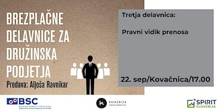 Brezplačne delavnice za družinska podjetja: 3. delavnica tickets