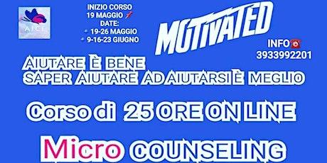 MICROCOUNSELING NIZIO CORSO RINVIATO   AL 19 MAGGIO biglietti