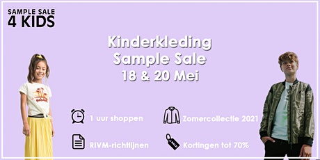 Kinderkleding Sample Sale | 18 & 20 Mei tickets