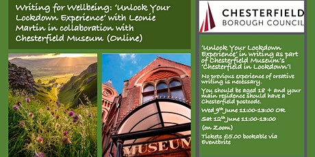 Writing for Wellbeing with Chesterfield Museum tickets