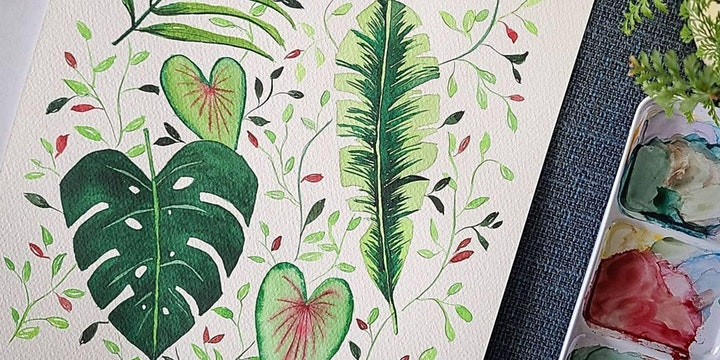 [Flaunt Your Leaves] Art Of Botanical Painting - Virtual image