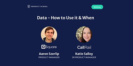 Webinar: Data - How to Use it & When by Square and CallRail Product Leaders tickets