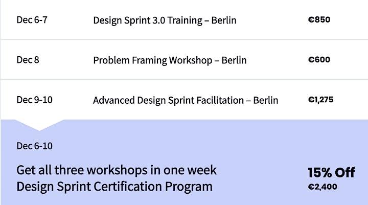 Design Sprint 3.0  Training - Berlin image