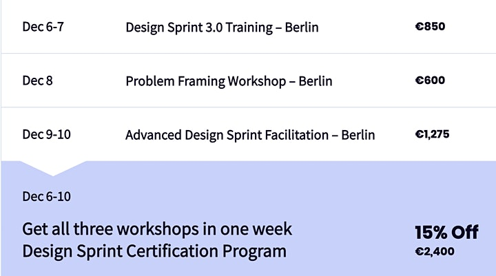 Problem Framing Workshop - Berlin image