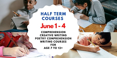 CREATIVE WRITING FOR EXAMS 11+ AGE – JUNE 1ST TO JUNE 4TH: 2:00PM TO 3:15PM tickets