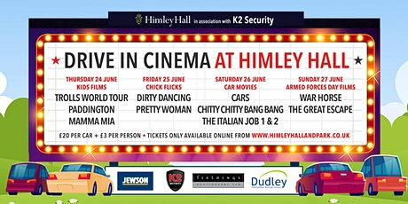Himley Hall Drive-in cinema - Mamma Mia (PG) tickets