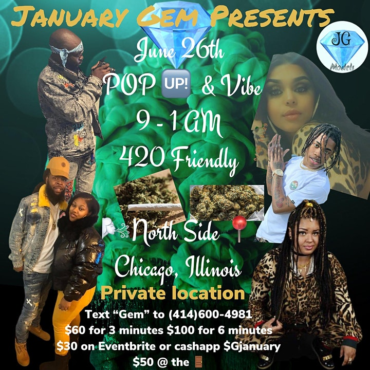 "January Gem ""POP up & Vibe"" image"
