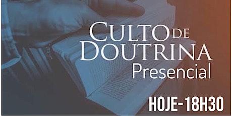 Culto de Doutrina 18:30 ingressos
