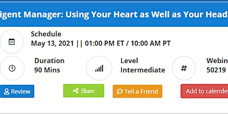 The Emotionally Intelligent Manager: Using Your Heart as Well as Your Head tickets