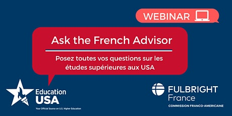 """Atelier virtuel : """"Ask the French Advisor"""" tickets"""
