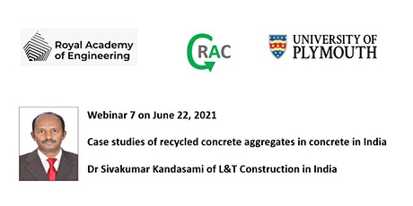 Case studies of recycled concrete aggregate sin concrete in India tickets