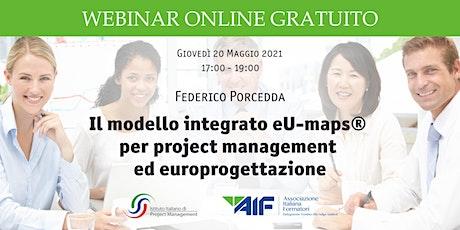 Il modello integrato eU-maps®  per project management  ed europrogettazione biglietti