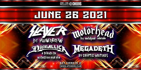 Slayer / Motorhead / Diaballica / Megadeth Tribute Bands @ Cheers tickets