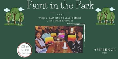 Paint in the Park- Walsall, Paint a Safari Sunset Using Watercolours tickets