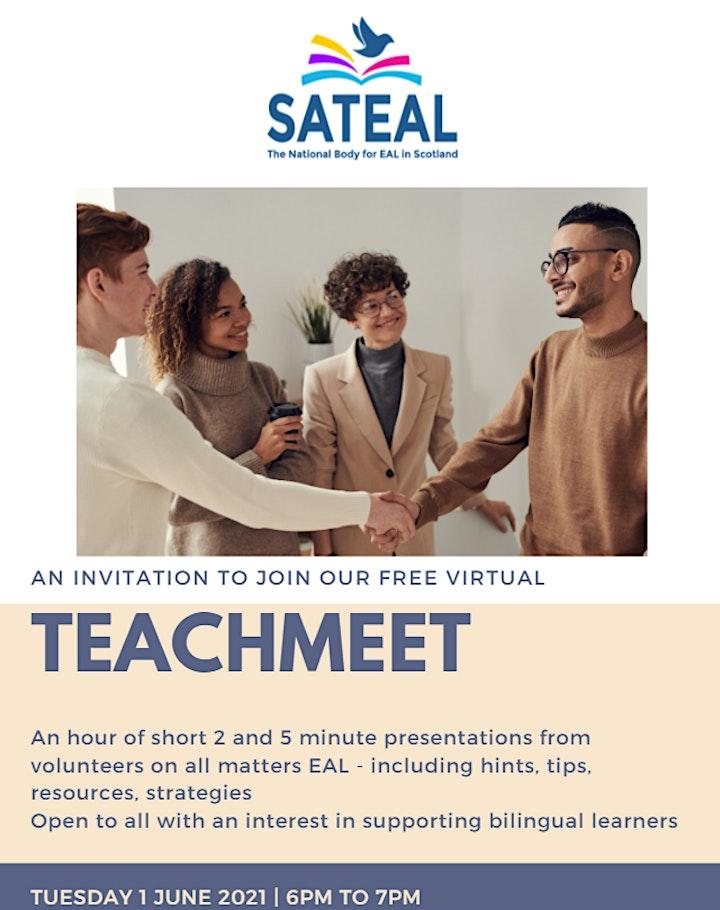 SATEAL Teachmeet image