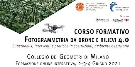 Fotogrammetria da drone e rilievi 4.0: Superbonus, interventi in C.A.T. biglietti