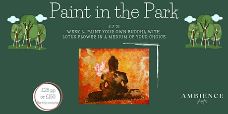 Paint in the Park,  Paint your own buddha with lotus flower tickets
