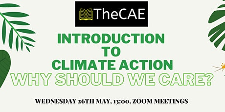 Introduction to Climate Change and Action - Why should we care? tickets