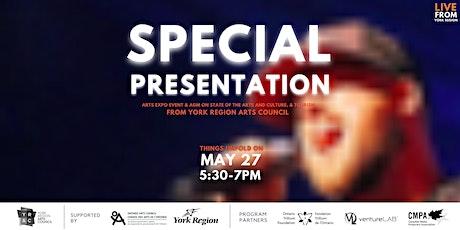 SPECIAL PRESENTATION  from York Region Arts Council tickets