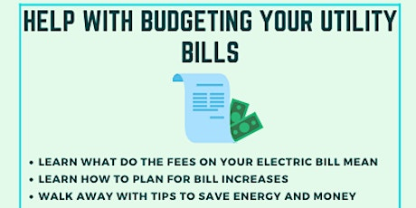 Help with Budgeting for your Utility Bills tickets