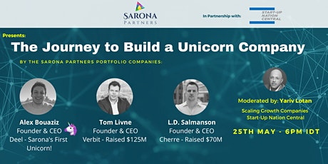 How to Build a Unicorn By Sarona Partners and Startup Nation Central tickets