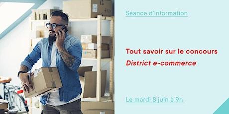 Concours District e-commerce billets