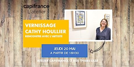 Vernissage à l'Atelier // CATHY HOULLIER billets