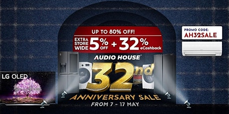 Audio House 32nd Anniversary Sale tickets
