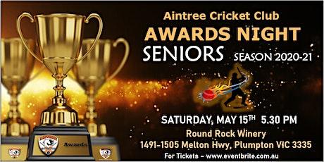 Seniors Cricket Awards Night  2020-21 tickets