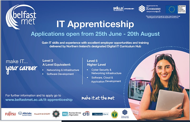 IT Apprenticeships 2021/22 -  Employer Information Session image