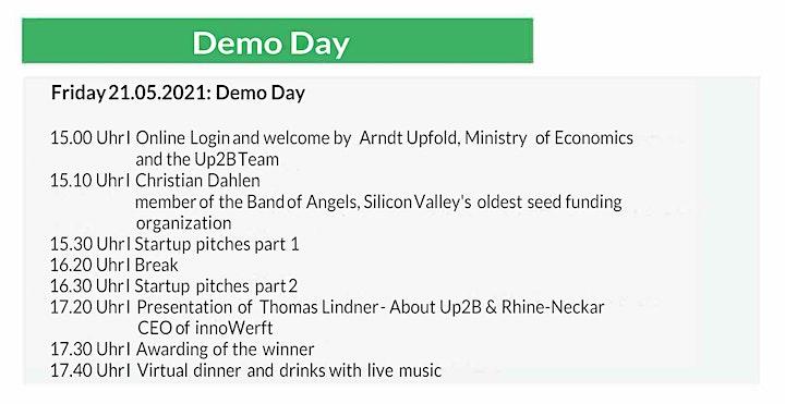 Up2B Breakthrough 2021 - Demo Day: Bild