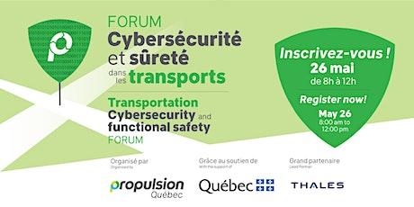 Forum Cybersécurité et sûreté dans les transports billets