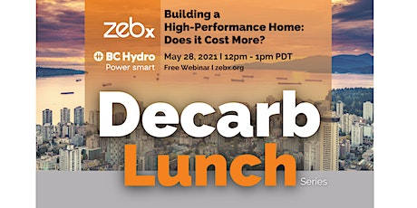 ZEBx Decarb Lunch - May 2021 tickets