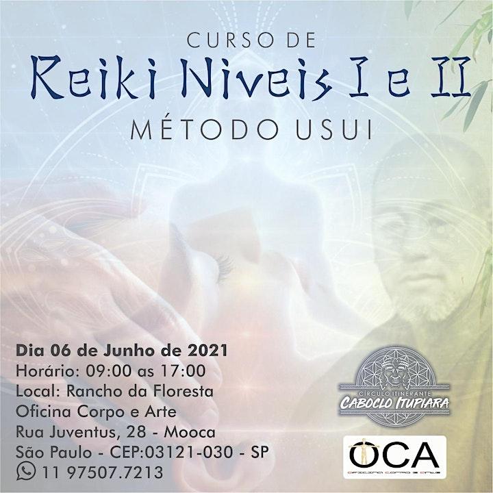 Imagem do evento Curso de Reiki método tradicional Usui Níveis I e II
