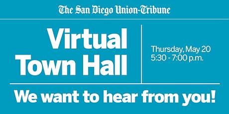 The San Diego Union-Tribune Virtual Town Hall tickets