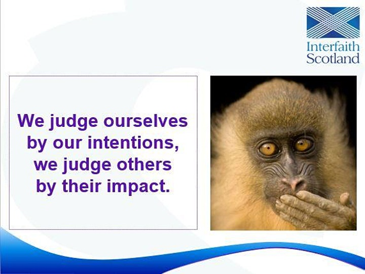 Intention versus impact - exploring group labels & unintended offence image