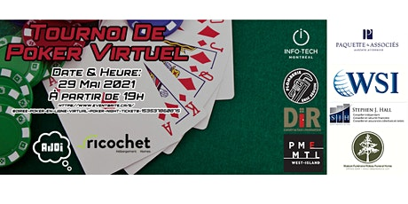 Soirée poker en ligne / Virtual poker night tickets