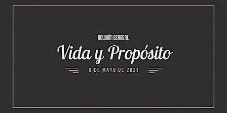 Reunión Vida y Propósito 09-05-2021 boletos