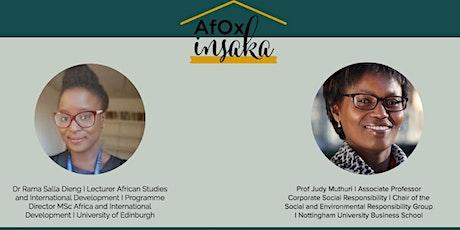 AfOx digital insaka with Dr Rama Salla Dieng & Prof Judy N. Muthuri tickets