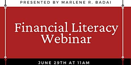 Financial Literacy Webinar Presented by Marlene R. Badai tickets