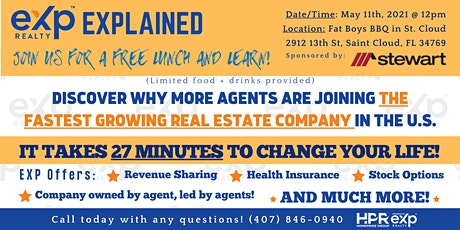 EXP Explained   Join Us for a FREE Lunch & Learn 5/11!! tickets
