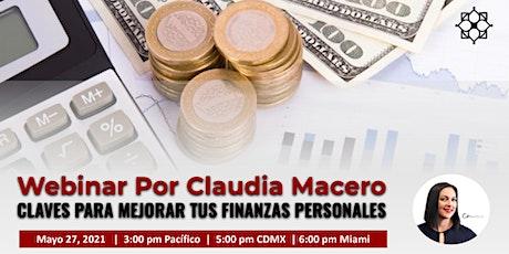 WEBINAR GRATIS Claves para Mejorar Tus Finanzas Personales biglietti