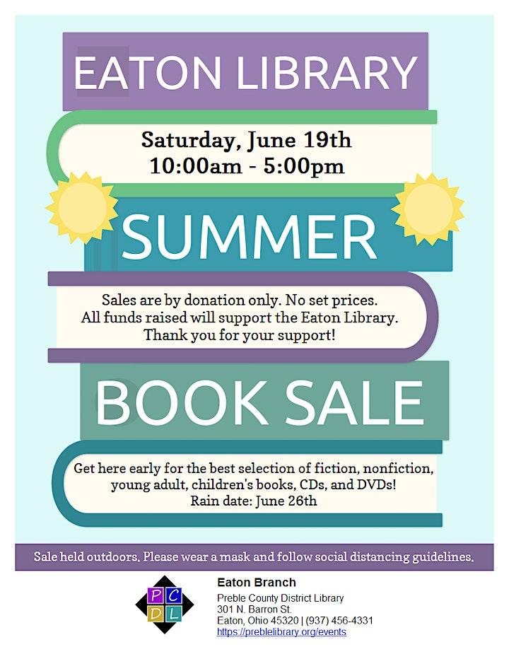 Eaton Library Summer Booksale image