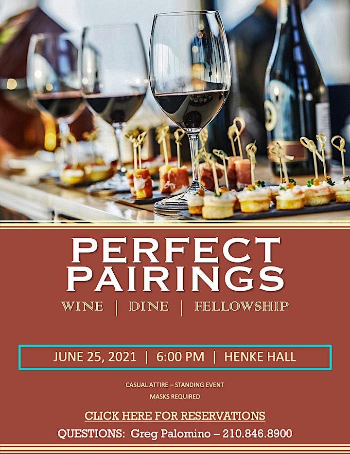 Perfect Pairings - Wine, Dine & Fellowship image